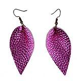 Amazon Price History for:L&N Rainbery 2 Pairs Petal Leather Earrings Fuax Leather Teardrop Earrings Leaf Drop Earrings