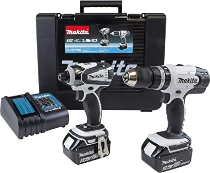 Makita Dlx2020Sw 18V 3. 0Ah Li-Ion Lxt Cordless Combi Drill ...