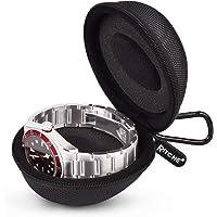Watch Travel Case Single Watch Box Watch Storage Holder Box for Wrist Watches Smart Watches, Black