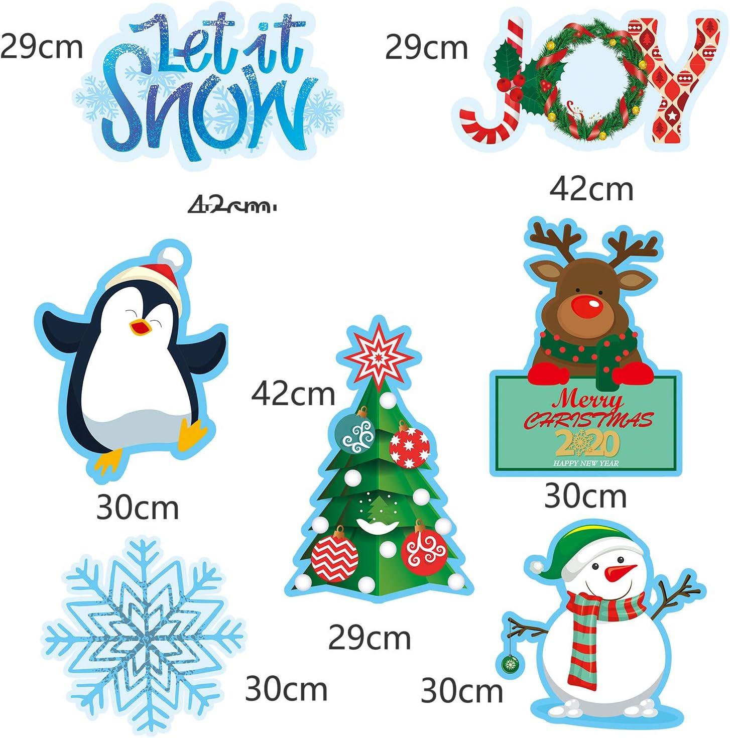 2 Pezzi Grande Natale e Nuovo Anno Segno di Banner allaperto,Buon Natale e Felice Anno Nuovo Banner per Natale Decorazione