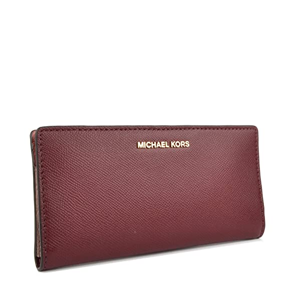 0d92957f0ce5 MICHAEL by Michael Kors Money Pieces Oxblood Large Card Case Carryall Wallet  one size Oxblood  Amazon.co.uk  Clothing