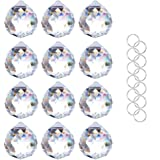 Crystalsuncatcher Clear Glass Crystal Ball Prism Feng Shui Lamp Hanging Drop Chandelier Pendants Suncatchers Pack of 12…