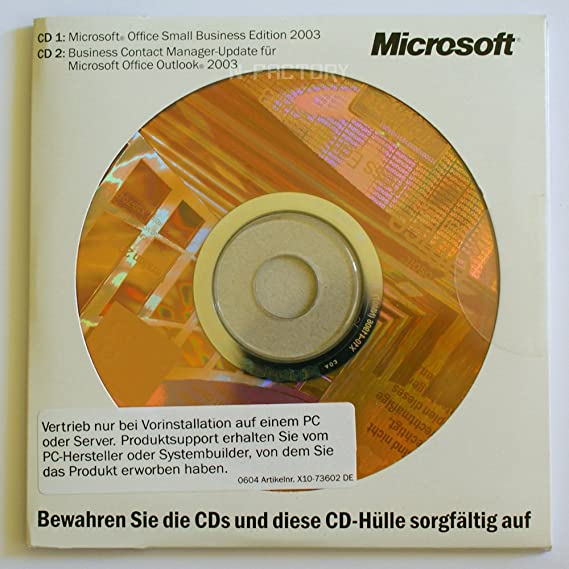 OEM MS Office SBE 2003 CD 1-Pack