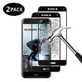 [2 Pack] Vetro Temperato Huawei P8 Lite 2017, Margot Pellicola Protettiva -Copertura Completa- Ultra Resistente- Vetro con Durezza 9H- Nessuna Bolla, Vetro Temperato per Huawei P8 Lite 2017- Nero