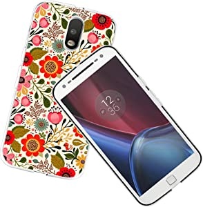 Moto G4 Case Protective Flower, CCLOT Protector Compatible for Motorola Moto G4 / Moto G4 Plus Cover(4th Generation) Protective Floral Pattern and Design Unique Fashionable