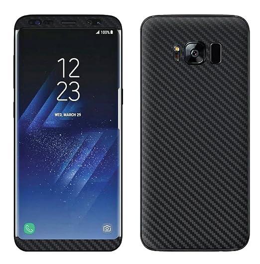 sale retailer c5b4b 5d0e7 Decalrus Protective Vinyl Skin Decal for Samsung Galaxy S8 PLUS BLACK  Texture Carbon Fiber case wrap cover sticker skins CFglxyS8PLUSsBlack