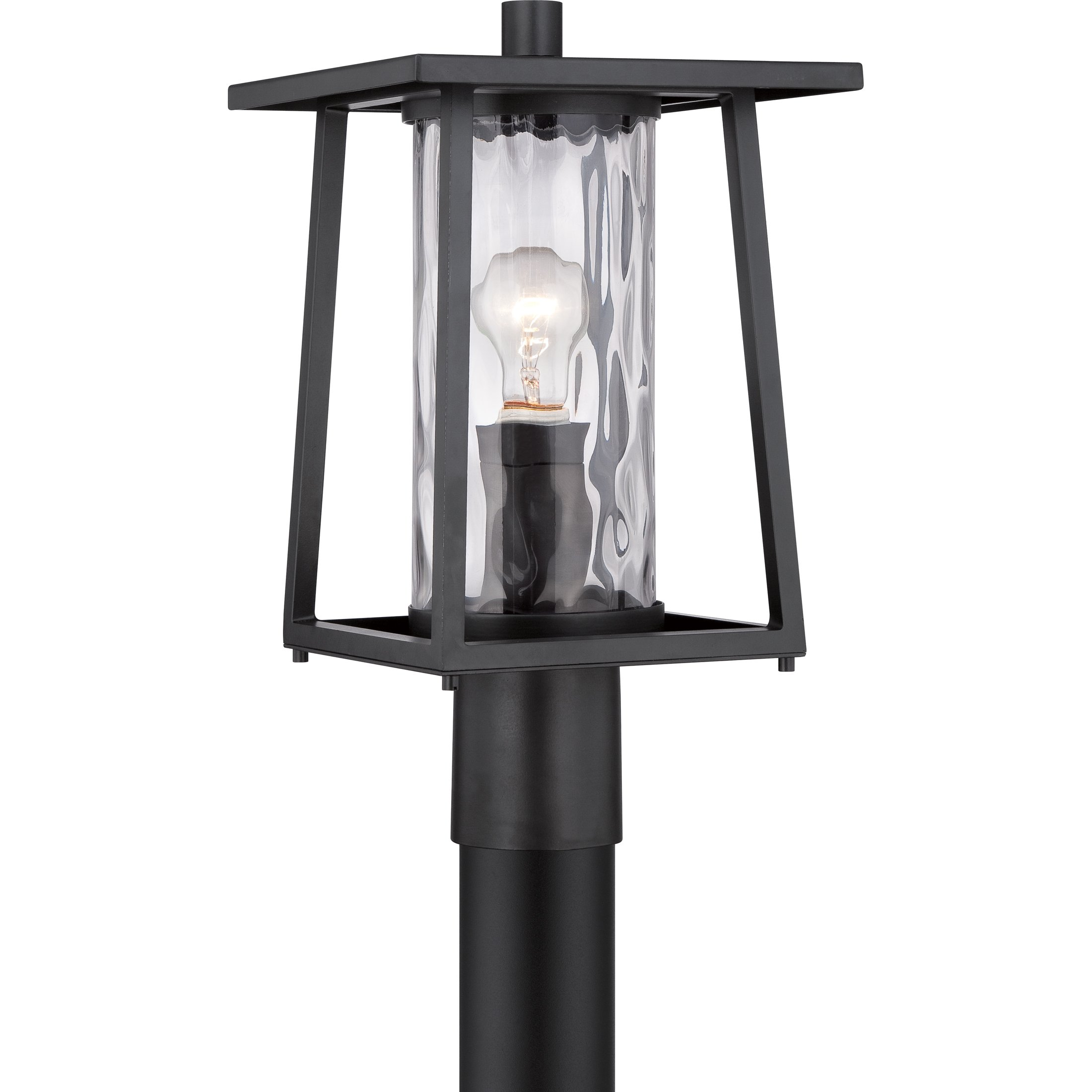 Quoizel LDG9009K Lodge with Mystic Black Finish and  Large Post Lantern,  Black