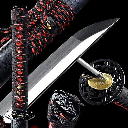 Handmade Japanese Samurai Sword Katana Sword 1060 High Carbon Dteel Full Tang