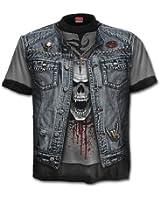 Spiral - Men - THRASH METAL - Allover T-Shirt Black