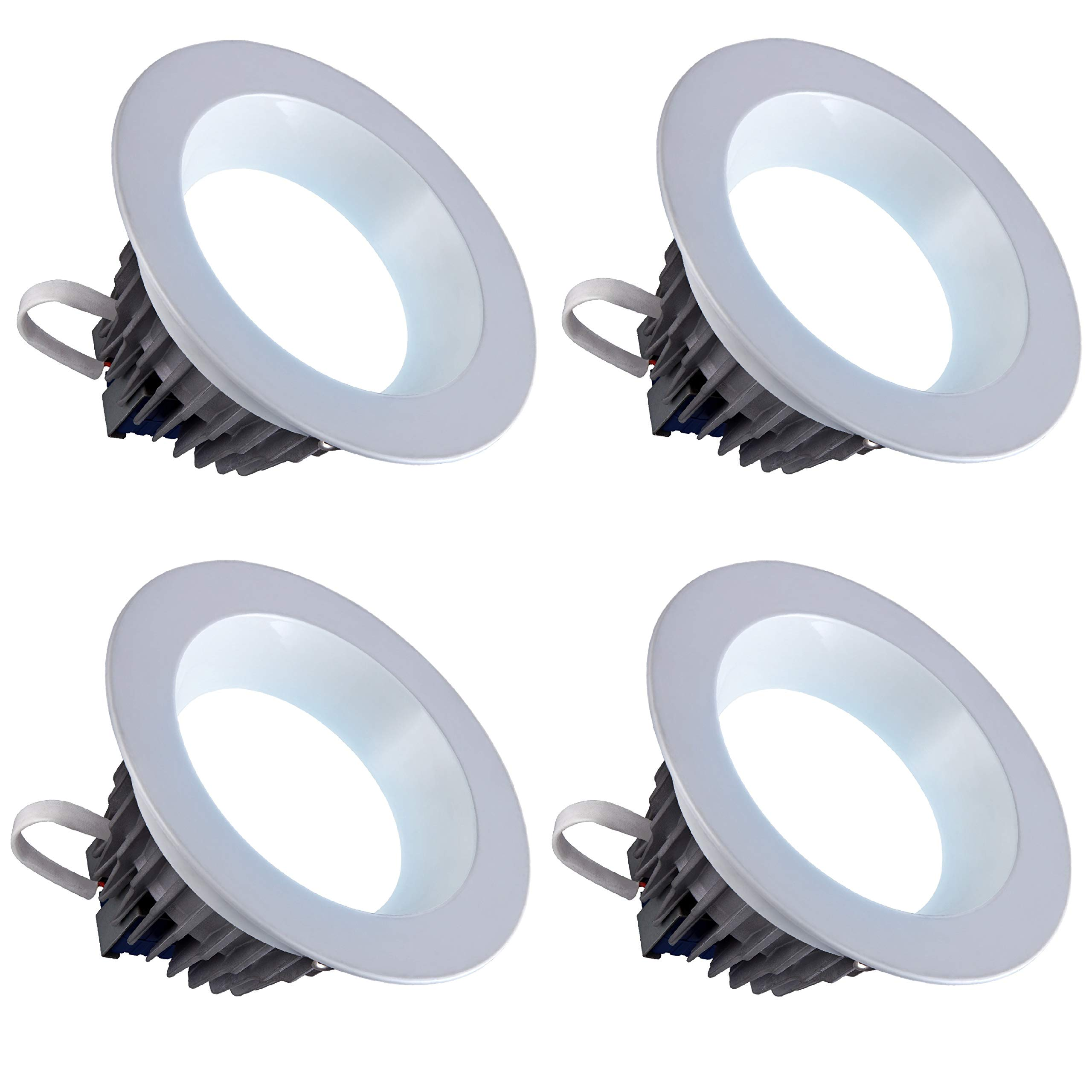 LED 6'' Inch Downlight 18W; 120V; 1500 Lumens; Dimmable; Wet Location Rated CRI>80; Energy Star and Intertek Certified (Day Light 5000K)- 4 Pack by Quest