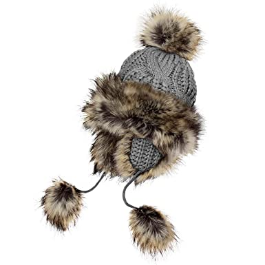 preisreduziert Gratisversand Größe 7 CASPAR Damen Mütze/Fellmütze / Mongolische Mütze mit grossem Fellbommel -  viele Farben