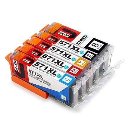 JETSIR Compatible Cartuchos de tinta Reemplazo para Canon PGI ...
