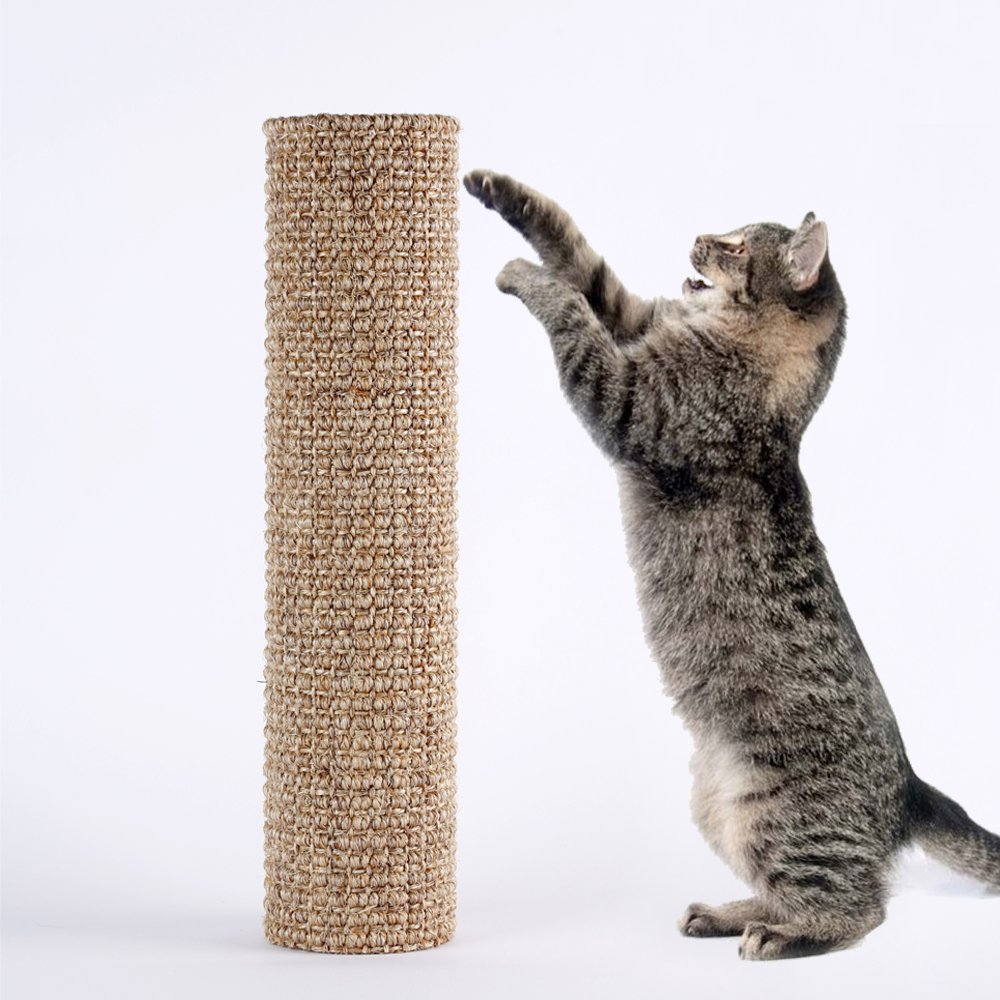 Diversity World Sisal Cat Scratching Post for Your DIY Use(Striped, 15.7''x3.9'')