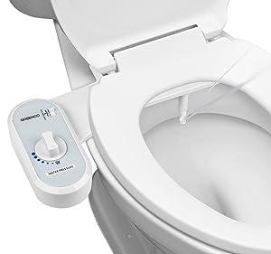 Greenco Bidet Fresh Water Spray Non-Electric Mechanical Bidet Toilet Seat Attachment
