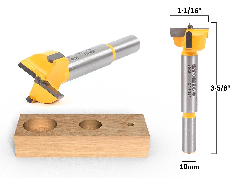 Yonico 43040C 1-3//8-Inch Diameter Carbide Forstner Drill Bit 10mm Shank