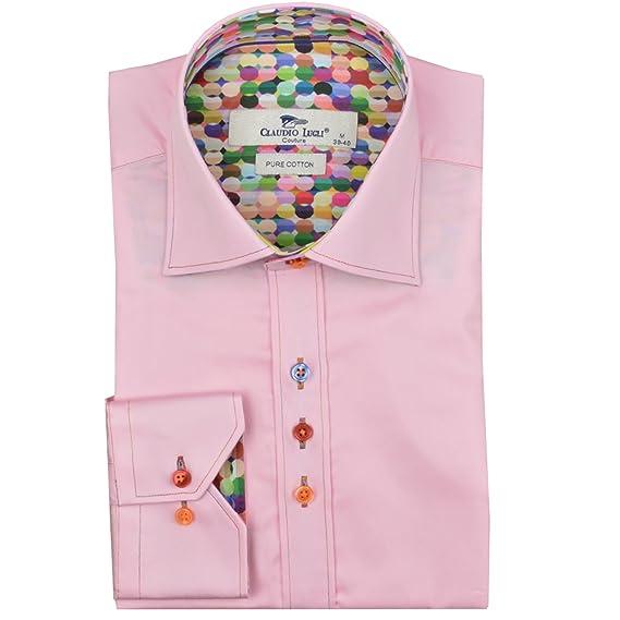 97c4acf24e7d3 Claudio Lugli Balloon Print Trim Mens Shirt Fashion Casual Party Wedding  Cotton Long Sleeve CP6229  Amazon.co.uk  Clothing