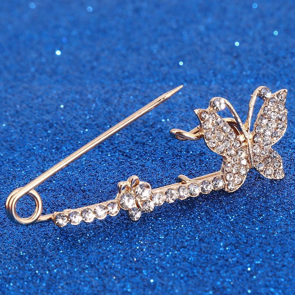 N//A Papillon Forme Cristal Broche Bridal Party Mariage Vintage Broche Broche v/êtements d/écoration Bijoux Cadeau danniversaire