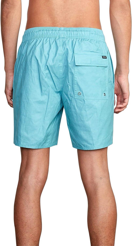 RVCA Mens Opposites Elastic Short Swim Trunks Bermuda Blue