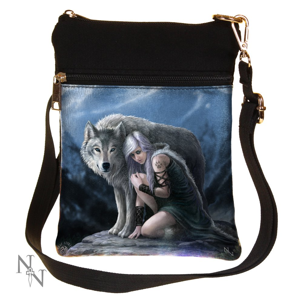 Gothic Fantasy Protector Wolf Shoulder Bag by Anne Stokes Nemesis Now B1843E5