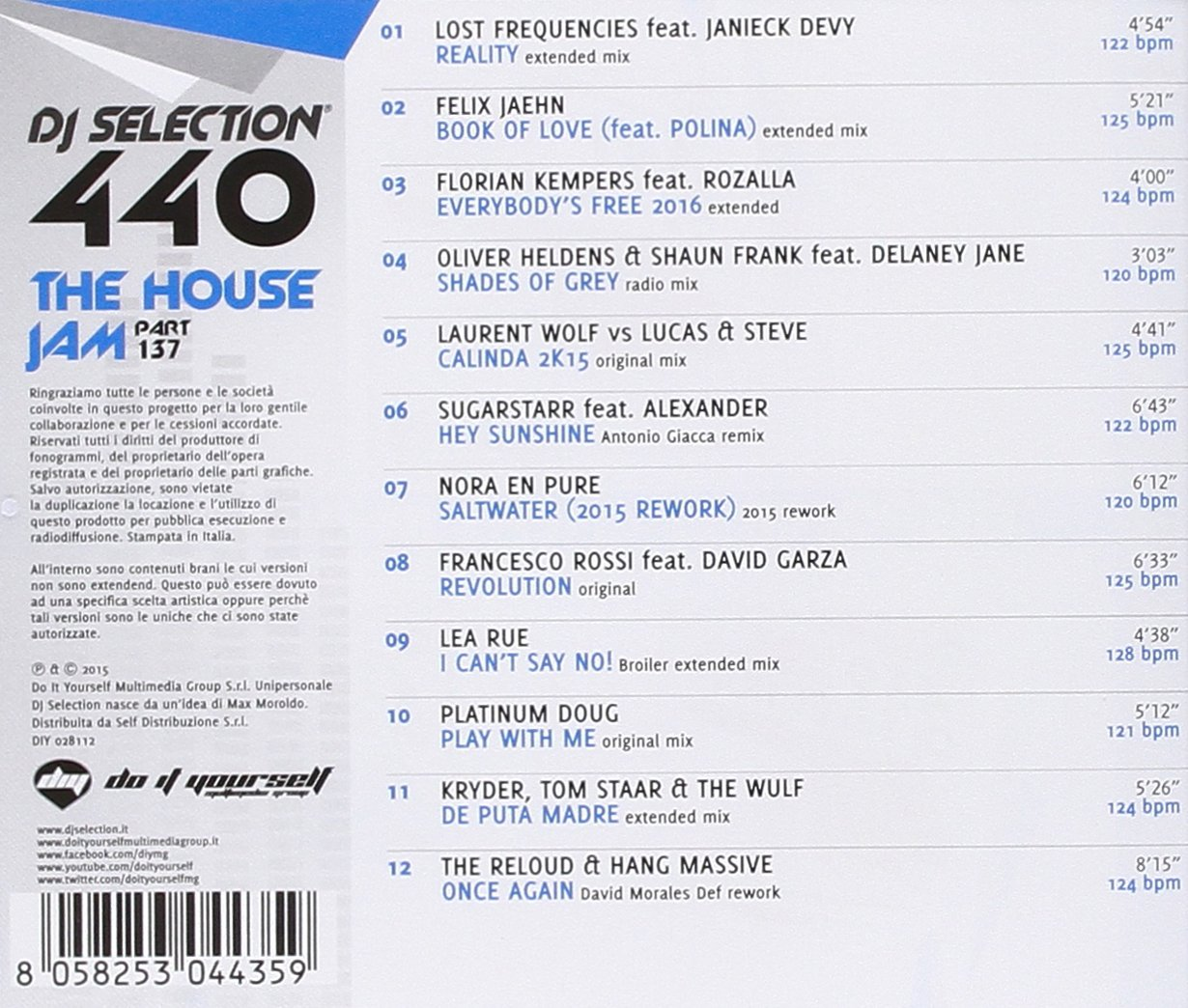 VARIOUS ARTISTS - DJ Selection 440 - House Jam Vol 138 / Various