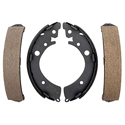 ACDelco 17576B Professional Bonded Rear Drum Brake Shoe Set: Automotive