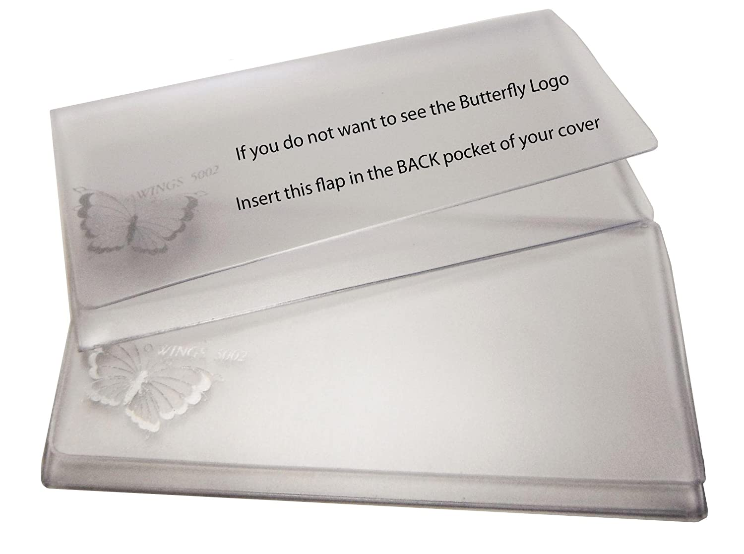 Checkbook Vinyl Protectors//Dividers for Leather /& Hand Crafted Covers Set of 5