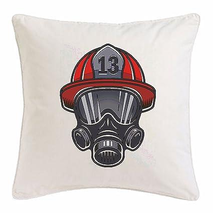 """funda de almohada 40x40cm """"América Bomberos CASCO CON Máscara de respiración de fuego bombero"""