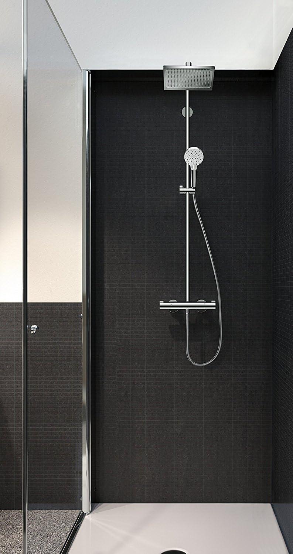 Hansgrohe 27281000 Crometta E 240 columna de ducha, 2 tipos de ...