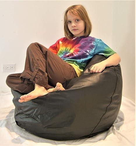 Excellent Amazon Com Comfy Bean Beanbag Small Ultra Vinyl Pecan Frankydiablos Diy Chair Ideas Frankydiabloscom