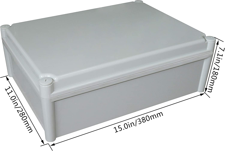 100 x 100 x 75 mm LeMotech Waterproof Dustproof IP67 Junction Box DIY Case Enclosure Gray 3.9 x 3.9 x 3 inch
