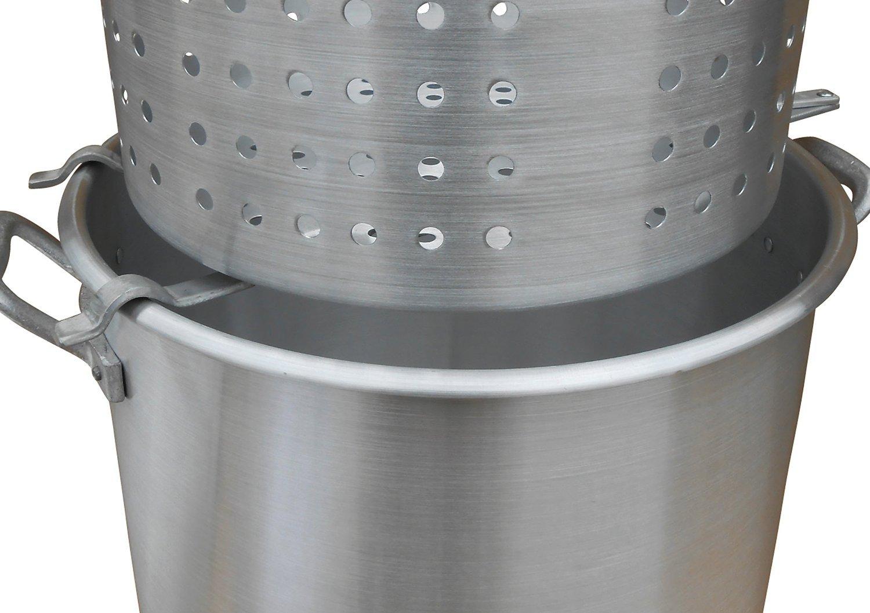 King Kooker #00064 Aluminum Strainer Rack Draining Large Baskets