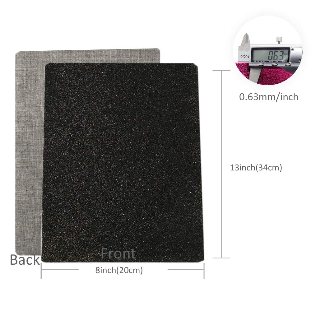 361d276f47 David accessories Shiny Superfine Glitter Faux Leather Sheets Solid Color  Synthetic Leather Fabric 21 Pcs 8 x 13''(20 x 34cm) Canvas Back Assorted ...