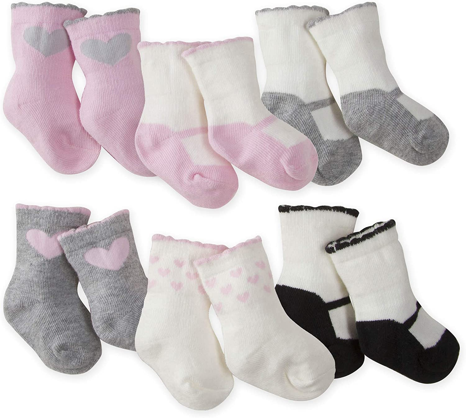 Gerber Wiggle Proof Baby 4 Pack Organic Socks  **Size 0-6M** FREE SHIPPING