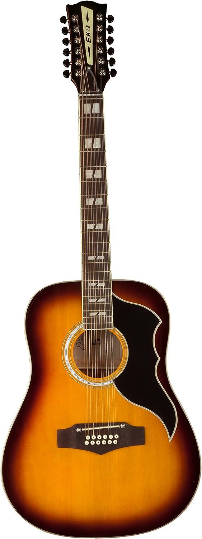 EKO Guitars 06216941 RANGER Series VR XII Dreadnought 12 String Acoustic Guitar Honeyburst
