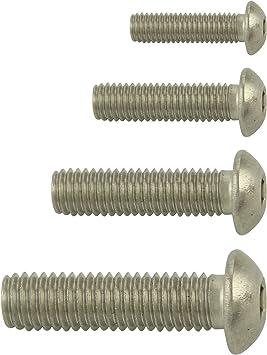 SC7380-1 - M5x45 - Vollgewinde - ISO 7380-1 5 St/ück ISK Linsenkopfschrauben mit Innensechskant rostfreier Edelstahl A2 V2A Flachkopfschrauben