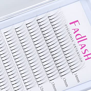 76e21da15f0 Amazon.com : Volume Lash Extensions Premade Fans 3D/5D C/D Curl 0.10mm  Individual Eyelashes Natural Rapid Cluster Lashes by FADLASH (3D-0.10-C, ...