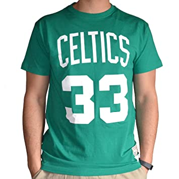 NBA Boston Celtics Larry Bird y nombre del jugador número de camiseta (Mitchell Ness) Talla:mediano: Amazon.es: Deportes y aire libre