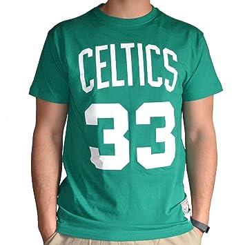 NBA Boston Celtics Larry Bird y nombre del jugador número de camiseta (Mitchell Ness) Talla:mediano: Amazon.es: Deportes y aire libre