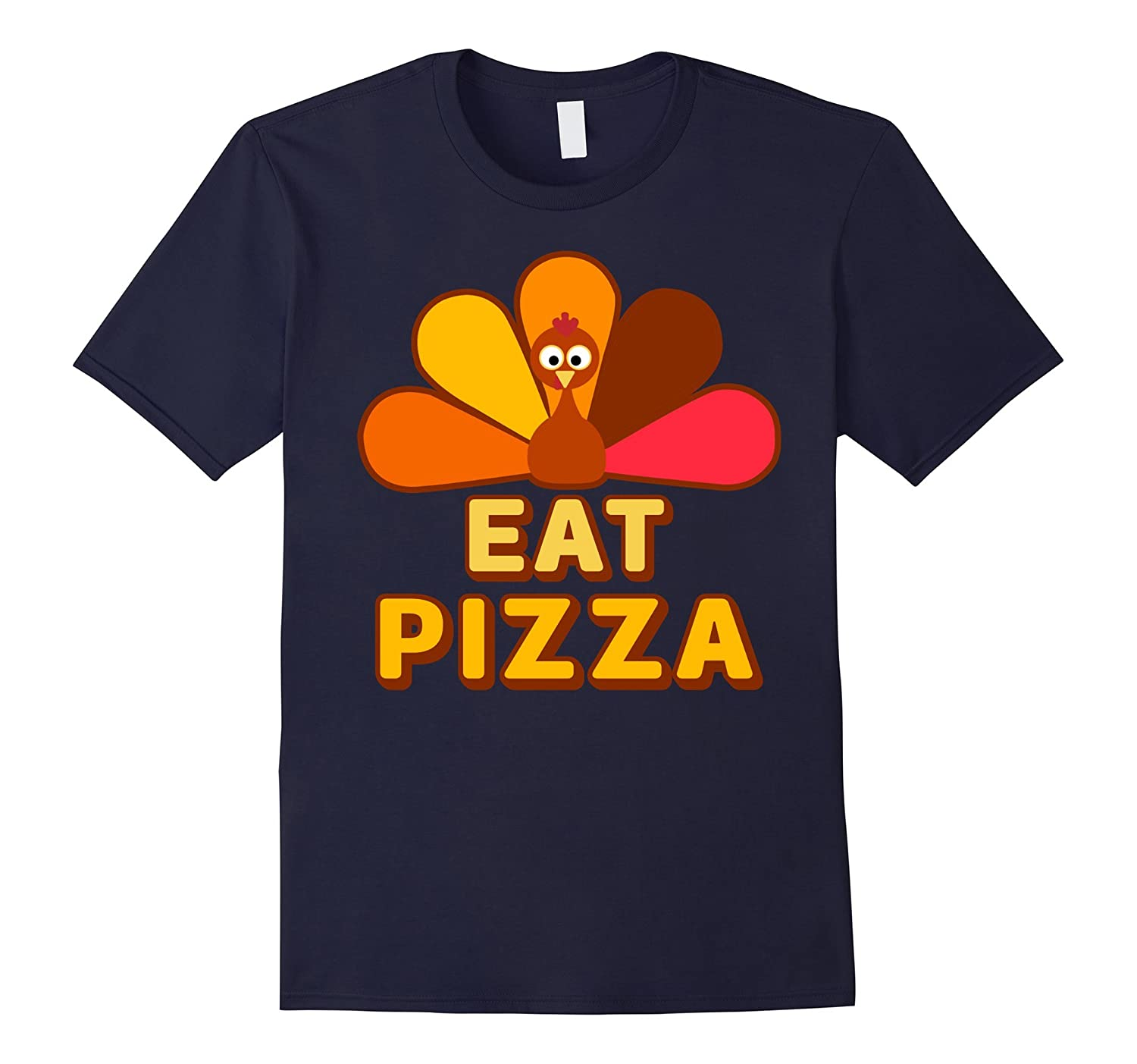 Funny Turkey Eat Pizza Tee Shirt for Thanksgiving-ANZ
