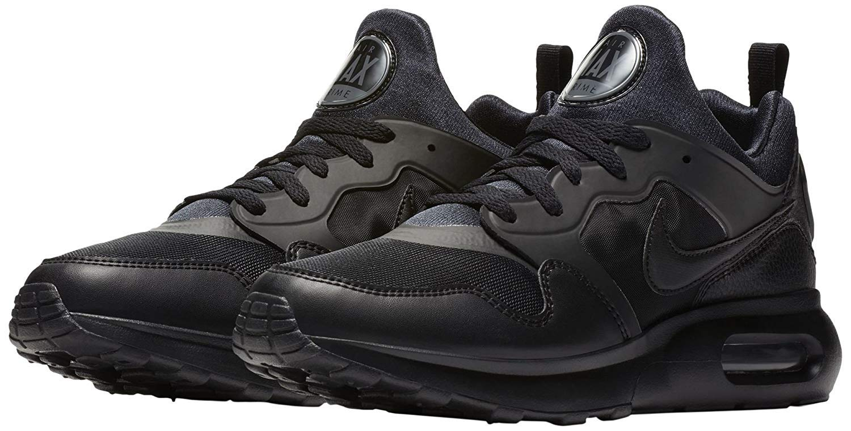 Nike Mens Air Max Prime Low Top Lace Up Running, BlackBlackDark Grey, Size 8.5