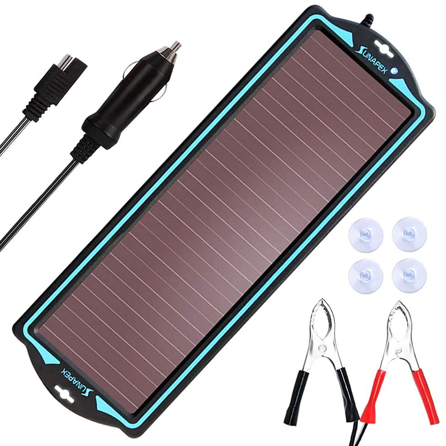 SUNAPEX Solar Portable Trickle Charger 12V Batteries