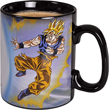Abystyle - dragon ball - tazza cambia colore con calore - 460 ml - goku vs buu E1051702