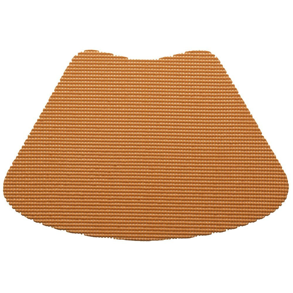 12 Piece Toffee Fishnet Placemat, Traditional Style, Lace Material, Solid Pattern, Wedge Shape, Machine washable, Perfect For Everyday, Fade Resistant And Durable, Light Brown