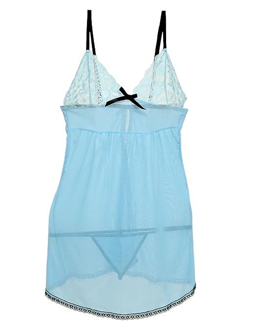 Moonar Hot Sexy Blue Lingerie Babydoll Dress + G-string Valentine s Day  Gift Chemise  Amazon.co.uk  Clothing 927e6529c
