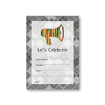 Amazon megaphone announcement speaking speaker promotion flat megaphone announcement speaking speaker promotion flat party invitation card 12 cards at 5x7 stopboris Choice Image