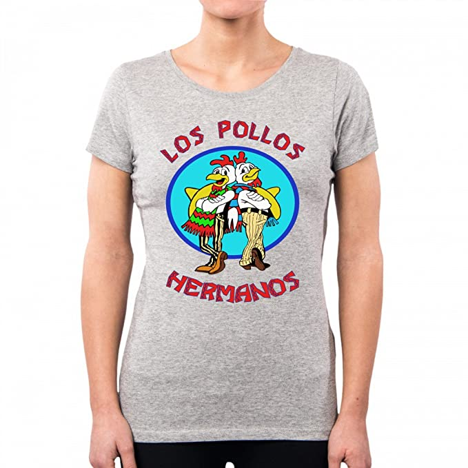 Pd0000a Pollos Breaking Mujer Bad Los Pacdesign Hermanos Camiseta xnU4qT0waF