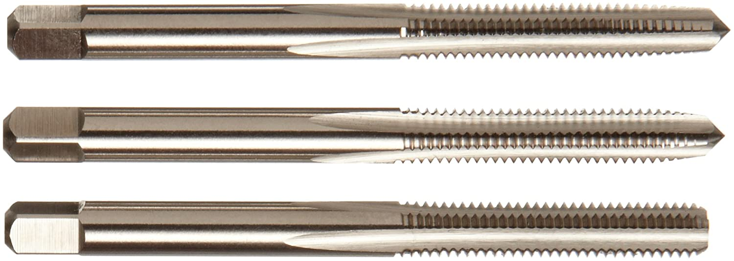 UNC H2 Tolerance Uncoated Bottoming Chamfer Union Butterfield 1534 Round Shank with Square End Finish 6-32 Thread Size Bright High-Speed Steel Spiral Point Tap