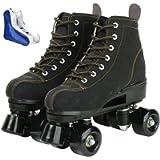 Roller Skates for Women Men High-top Roller Skates Four Wheels Roller Skates Shiny Roller Skates for Girls Boys with…