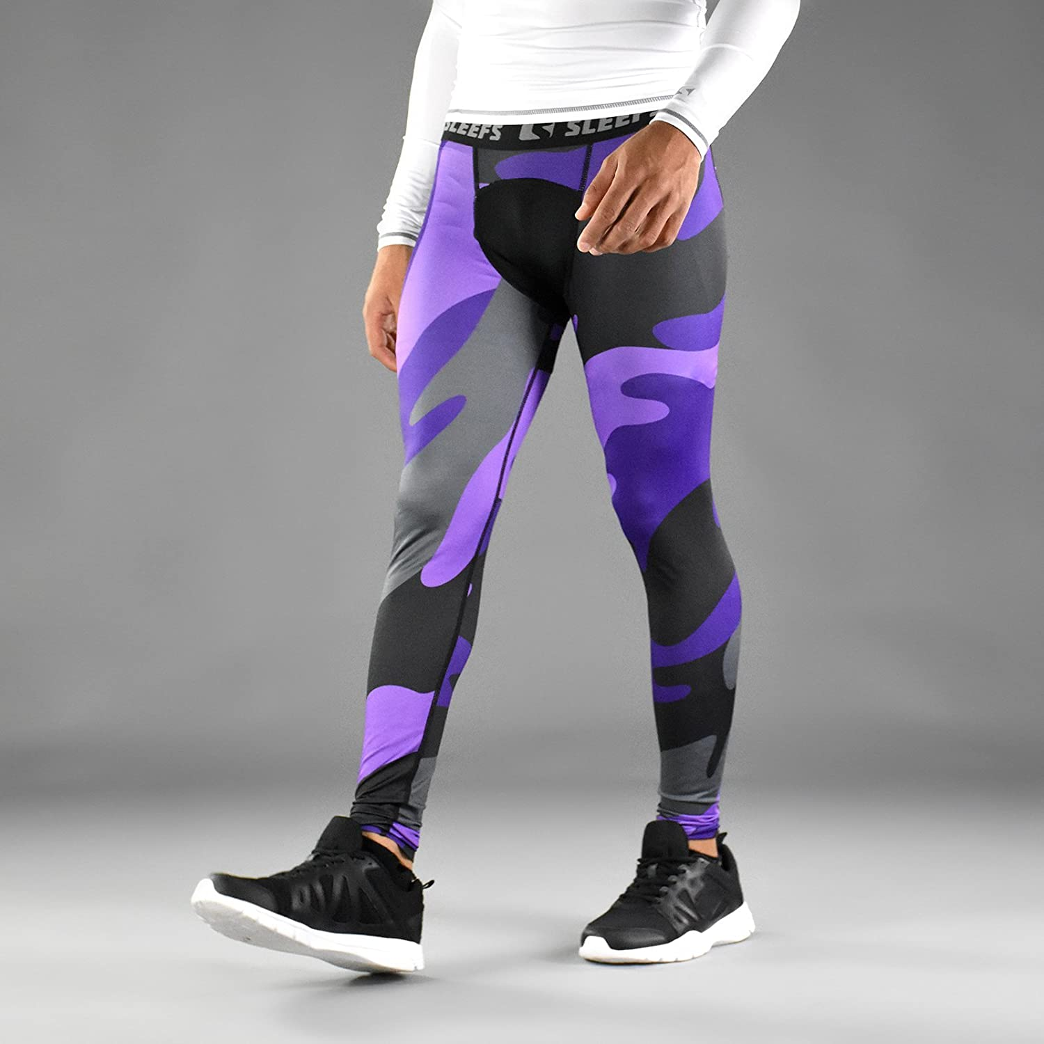 Official Website hot-selling discount professional SLEEFS Purple Juice Camo Tights for Men