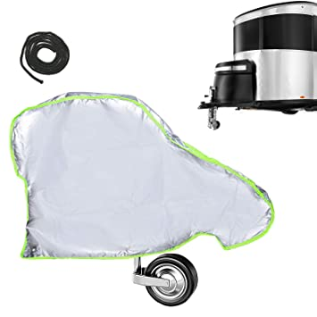 SurePromise Universal Caravan Towing Hitch Cover Heavy Duty Drawbar Cover Waterproof Trailer Protector Fit All Types